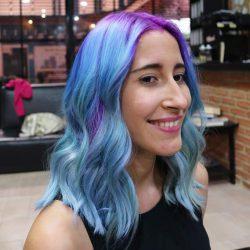 cabello sirena mermaid hair blue hair cabello azul galaxy hair cabello galaxia