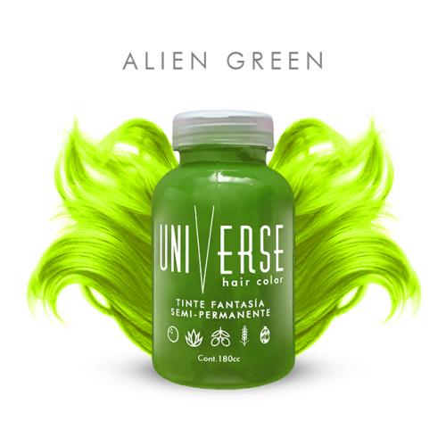 verde manzana alien lime green cabello claro fantasia venezuela pigmento tintura tintes tinte fantasi colombia