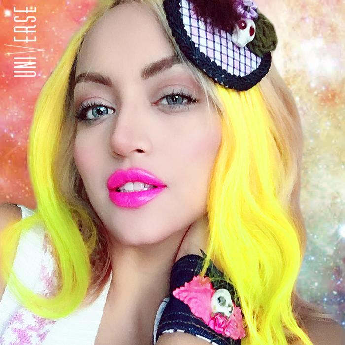 yellow amarillo cabello fantasia neon brillante unicornio sirena mermaid universe universal venezuela valencia tintes veganos