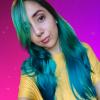 mermaid hair sirena cabello unicorn unicornio blue verde azul green aquamarine valencia venezuela tintes fantasia fantasy universe universal
