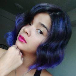 purple hair violet violeta morado fantasia fantasy venezuela tintes hair dye short balayage donde comprar